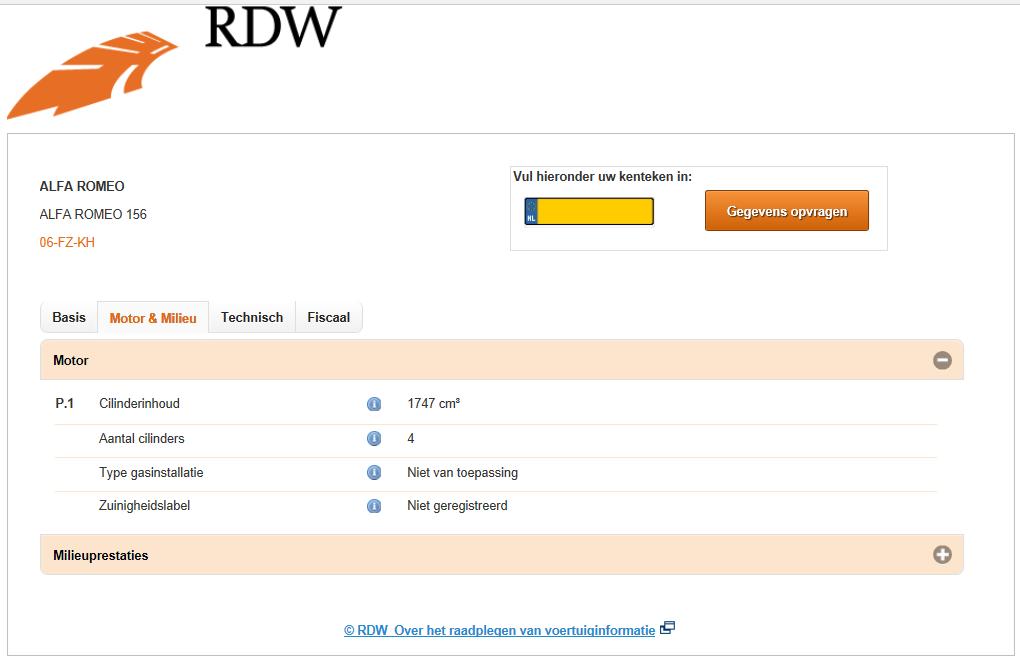 motor en milieu RDW