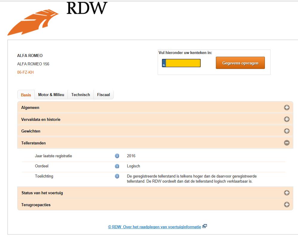 RDW tellerrapport