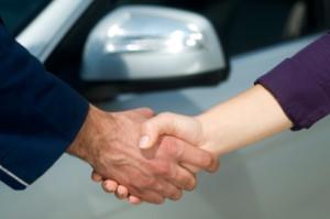 Onderhandeling voor auto